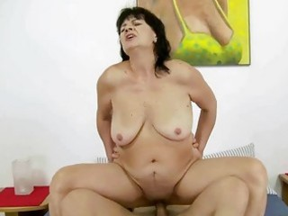 ugly fat grandma fucking with her youthful