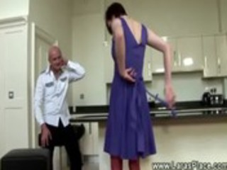 mature lady in stockings gets spanked