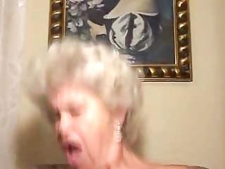 old blond granny cock-sucker and fucker