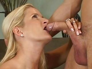blonde milfs ball licking blowjob act