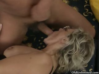 naughty aged woman receives her hairy bawdy cleft