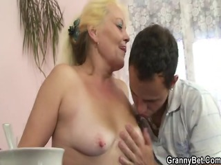 blonde granny acquires her shaggy love tunnel