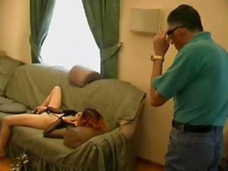 old nasty guy catches granddaughter masturbating