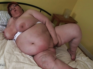 big aged sluts acquires nasty and wild on her self