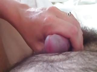 my wife renate strokes my dick till last drop