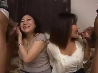 nasty asian mom and her youthful daughter get
