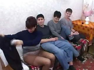 russian mommy fuck son & his friends