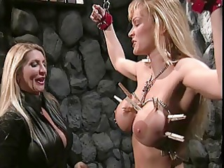 busty madam in bdsm action with a sexy large