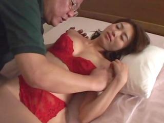 avmost.com - japanese hottie in red lingerie