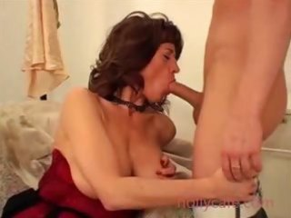 super hairy box on milf in great lingerie