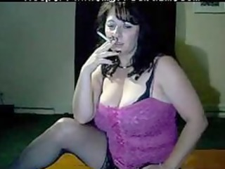 breasty mommy tells to cum whilst she is smokes