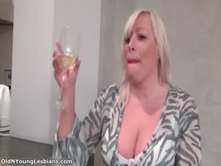 sexually excited overweight mature lesbo is