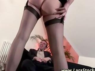 posh mature stockings hottie receives obscene