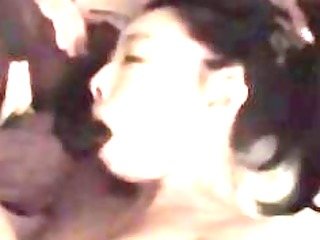 asian wife engulfing and fucking a black monster