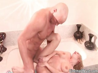 hot blonde chick receives horny riding