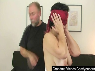 old wife gets young cock for her birthday