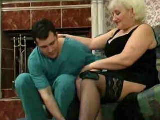 blond granny desires to fuck the doctor