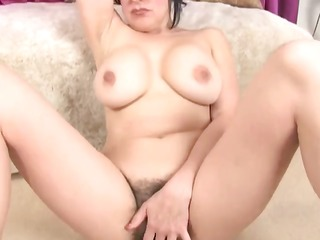 bbw curly and breasty masturbation