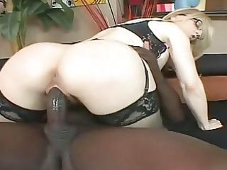 nina hartley with a black..