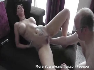 hot brunette fist fucked in her loose pussy