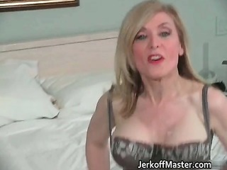 hawt golden-haired milf is stripping