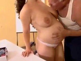 pregnant - grandpapa mireck and preggy bitch