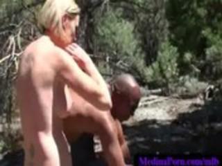 46-busty milfs sucking giant dark schlongs