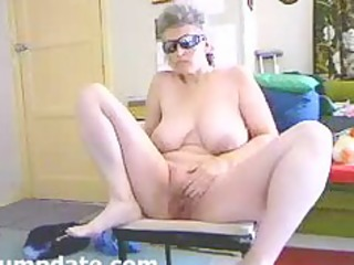 busty wife widens her legs and masturbates