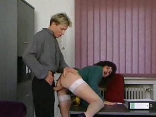 aged secretary gets drilled