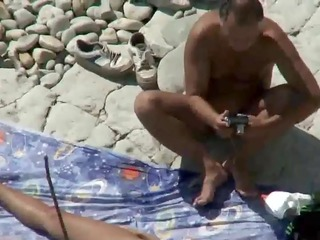 mama and dad fuck on a public beach
