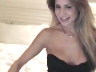 golden-haired mother i teases on webcam