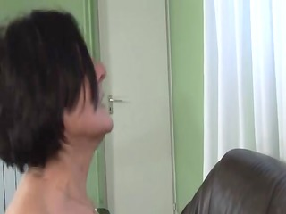 mature granny with unshaved bush drilled by