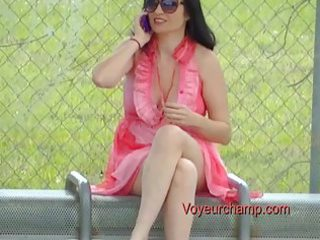exhibitionist wife#59-bus stop flashing russian d