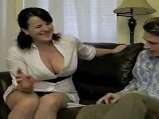 sexy busty smokin mom bangs soninlaw