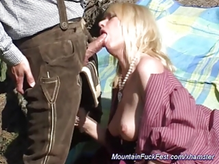 milf likes anal sex in the mountain