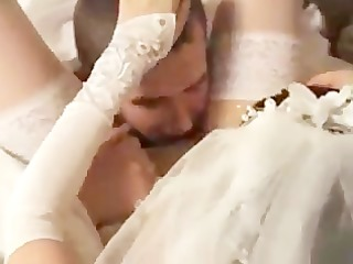bride drilled by her new spouse