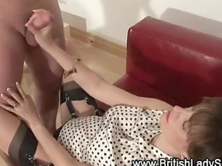 stockinged pecker lover spunk flow