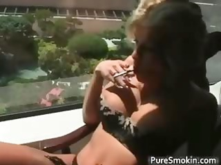 cute blonde d like to fuck smokes cigarettes