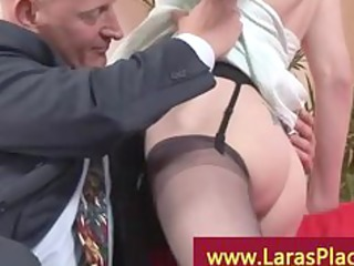 horny woman in nylons with a aged guy acquire