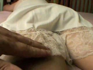 large lascivious wife receives rubbed on her