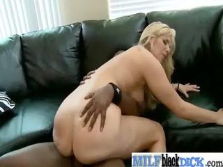 slut milf love hard black dick inside her holes