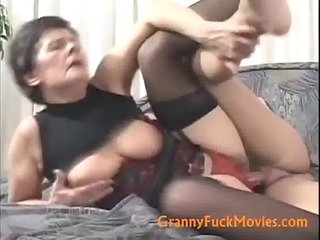 old wench hard fucked from behind