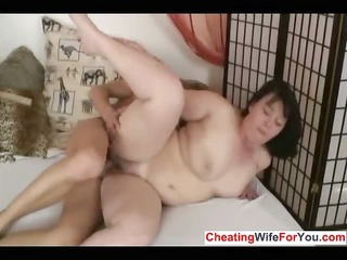 bulky cougar likes to swallow