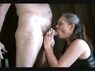 hot older female always smokes her cigarette