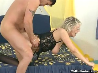 nasty older woman gets fucked hard from