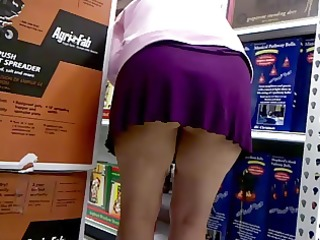 shopping in a short skirt out of pants another
