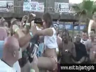 outdoor event with many boozed horny nubiles