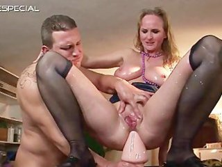 aged mother gets all her holes filled part3