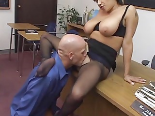 alexis silver drilled in pantyhose