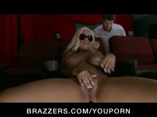 big-tit blonde pornstar has an anal double